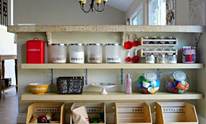 A kitchen room filled with kitchen items