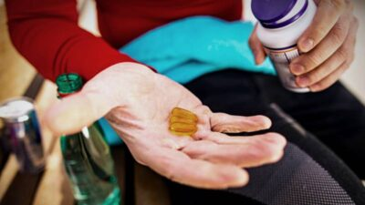A holding tablets need bottle